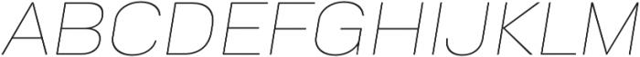 Goldbill XL Thin Italic otf (100) Font UPPERCASE