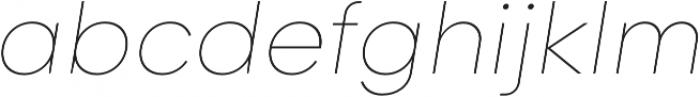 Goldbill XL Thin Italic otf (100) Font LOWERCASE