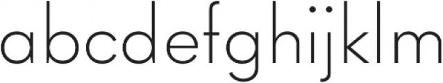 Goldbill XS ExtraLight otf (200) Font LOWERCASE