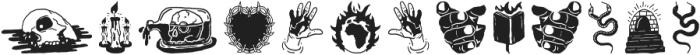 Golddrew Extras ttf (400) Font LOWERCASE