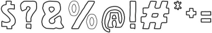 Golddrew Outline Regular otf (400) Font OTHER CHARS