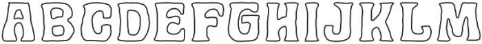 Golddrew Outline Regular otf (400) Font LOWERCASE