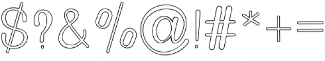Golden Bridge Sans Outline Regular otf (400) Font OTHER CHARS