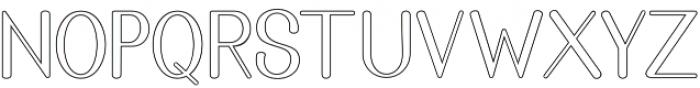 Golden Bridge Sans Outline Regular otf (400) Font LOWERCASE