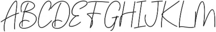Golden Bridge Script Regular otf (400) Font UPPERCASE