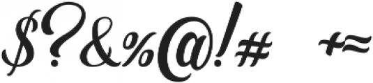 Golden Brush otf (400) Font OTHER CHARS
