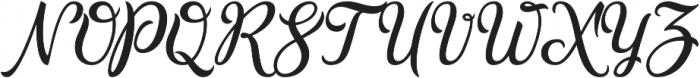 Golden Brush otf (400) Font UPPERCASE
