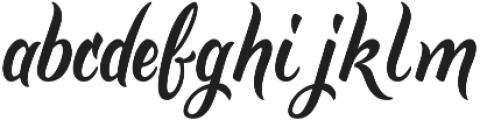 Golden Brush otf (400) Font LOWERCASE