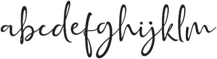 Golden Class Script otf (400) Font LOWERCASE