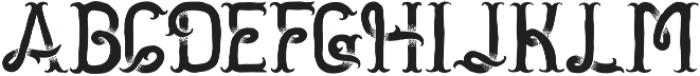 Golden Dust otf (400) Font UPPERCASE
