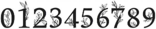 Golden Leaves Regular otf (400) Font OTHER CHARS