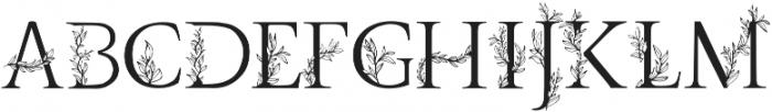 Golden Leaves Regular otf (400) Font UPPERCASE