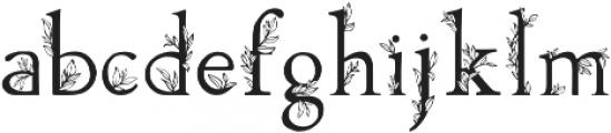 Golden Leaves Regular otf (400) Font LOWERCASE