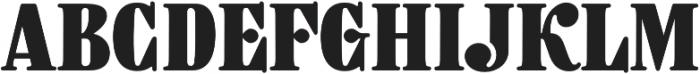 Goldpicker Regular otf (400) Font UPPERCASE