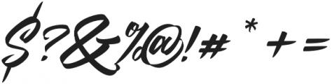 Goliath otf (400) Font OTHER CHARS