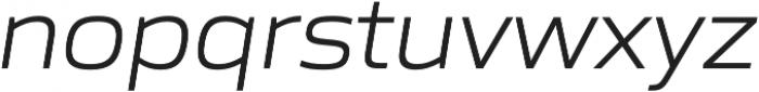 Gomme Sans Light Italic otf (300) Font LOWERCASE