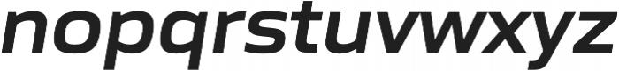 Gomme Sans SemiBold Italic otf (600) Font LOWERCASE