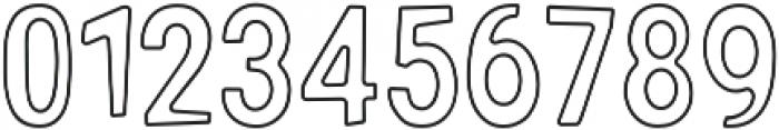 Gooberville Outline ttf (400) Font OTHER CHARS