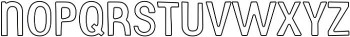 Gooberville Outline ttf (400) Font LOWERCASE
