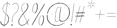Good Day Italic otf (400) Font OTHER CHARS