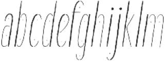 Good Day Italic otf (400) Font LOWERCASE