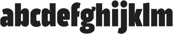 Good News Sans Black Condensed otf (900) Font LOWERCASE
