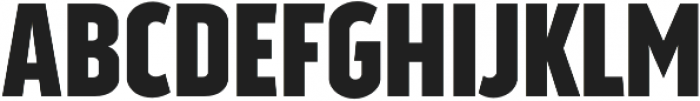 Good News Sans Bold Condensed otf (700) Font UPPERCASE