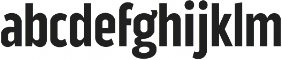Good News Sans SemiBold Condensed otf (600) Font LOWERCASE
