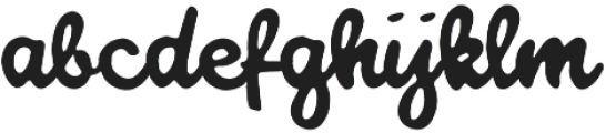 Good luck my way otf (400) Font LOWERCASE