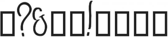 GoodJacket Regular otf (400) Font OTHER CHARS