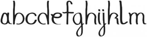 GoodJacket Regular otf (400) Font LOWERCASE