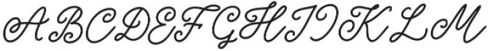 Good_feeling otf (400) Font UPPERCASE