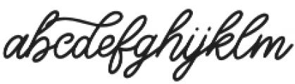 Good_feeling otf (400) Font LOWERCASE