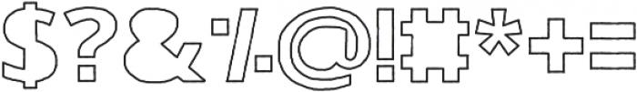 Gorden Alternate otf (400) Font OTHER CHARS