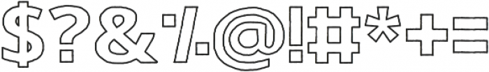 Gorden otf (400) Font OTHER CHARS