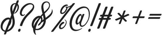 Gorgeous otf (400) Font OTHER CHARS