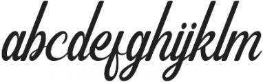 Gorgeous otf (400) Font LOWERCASE