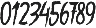 Gory Madness otf (400) Font OTHER CHARS