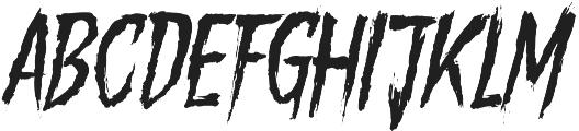 Gory Madness otf (400) Font UPPERCASE