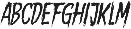 Gory Madness otf (400) Font LOWERCASE