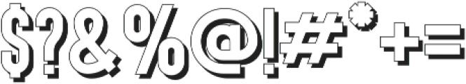 Gotcha Shadow otf (400) Font OTHER CHARS