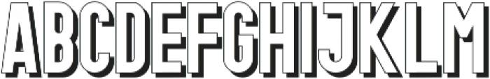 Gotcha Shadow otf (400) Font LOWERCASE