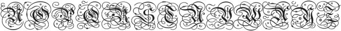 Gothic Initials Regular otf (400) Font UPPERCASE