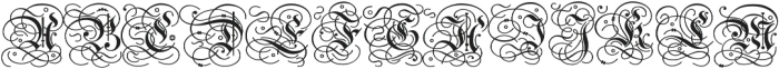 Gothic Initials Regular otf (400) Font LOWERCASE