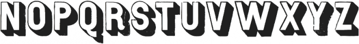 Gothic Open Shaded Distressed otf (400) Font UPPERCASE