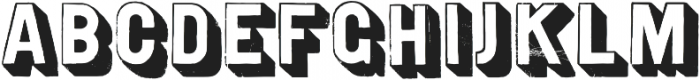 Gothic Open Shaded Distressed otf (400) Font LOWERCASE