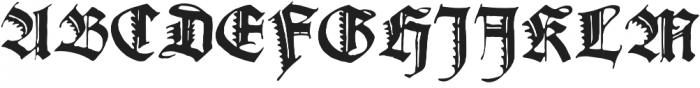 Gothicus Alternate Regular otf (400) Font UPPERCASE