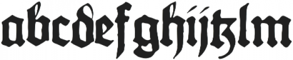 Gothicus Alternate Regular otf (400) Font LOWERCASE