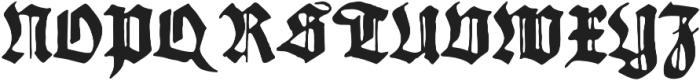 Gothicus Regular otf (400) Font UPPERCASE