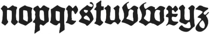 Gothicus Regular otf (400) Font LOWERCASE